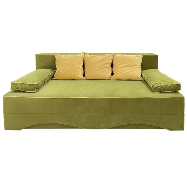 Canapea extensibila verde Azia elvila